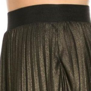 TOV Holy Skirts - Gold Pleated Maxi Skirt